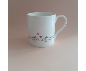 Kissing Dachshunds Mug